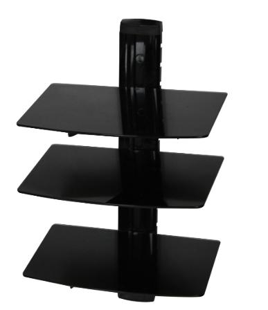 Three layers glass dvd wall mount bracket china