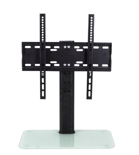 Monitor stand on desktop